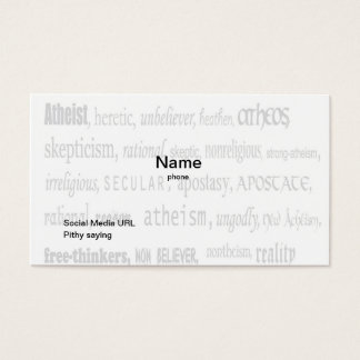 Official Card Carrying Atheist Business Card