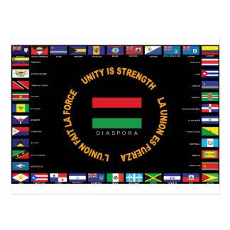 Official Caribbean Unity Flag Postcard