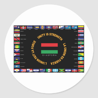 Official Caribbean Unity Flag Round Sticker