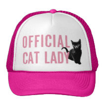 Official Cat Lady Hat Pink