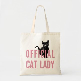 Official Cat Lady Tote Bag