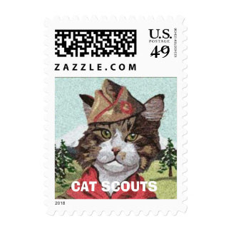 Official Cat Scouts U.S. Postage