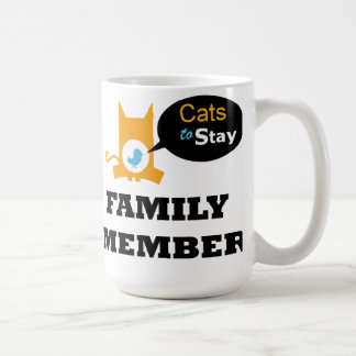 Official Cats to Stay Coffee or Tea Mug