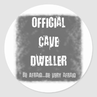 Official Cave Dwellers Round Sticker