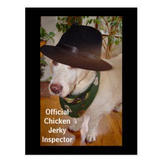 Official Chicken Jerky Inspector Postcard