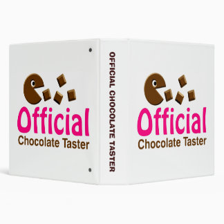 Official Chocolate Taster (1.5in) 3 Ring Binder