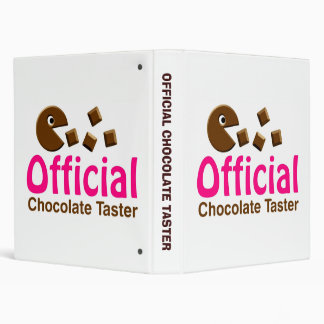 Official Chocolate Taster 3 Ring Binder