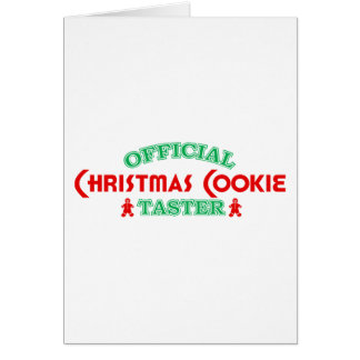 Official Christmas Cookie Taster Greeting Cards