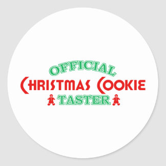 Official Christmas Cookie Taster Sticker