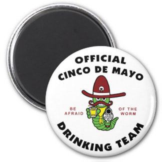Official Cinco de Mayo Drinking Team 2 Inch Round Magnet