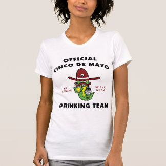 Official Cinco de Mayo Drinking Team Ladies Tee Shirt