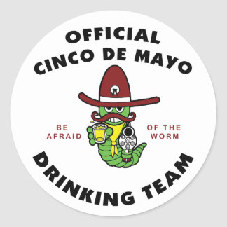 Official Cinco de Mayo Drinking Team Stickers