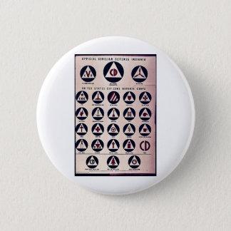 Official Civilian Defense Insignia Button