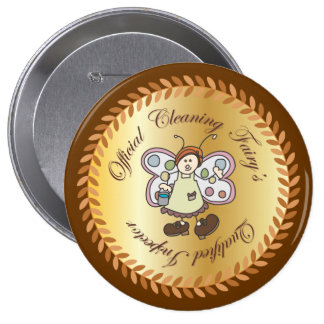 Official Cleaning Fairy Qualified Inspector Button