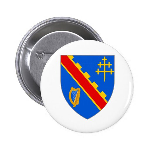 Official Coat Arms Armagh Heraldry Symbol Ireland Button