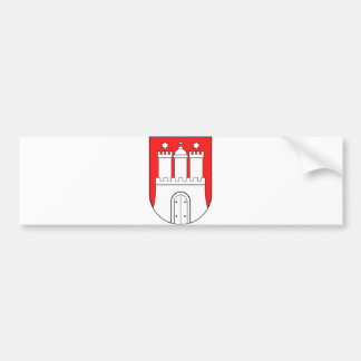 Official Coat of Arms Hamburg Germany Symbol Bumper Sticker
