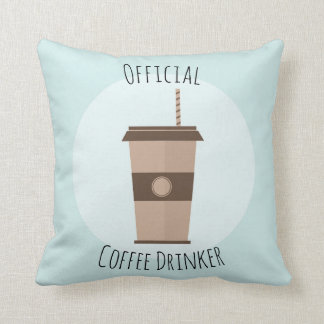 Official Coffee Drinker Pillow