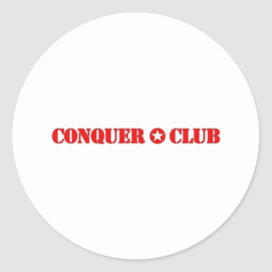 Official Conquer Club Classic Round Sticker