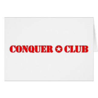 Official Conquer Club Greeting Card
