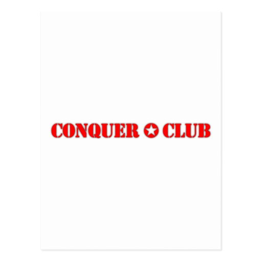 Official Conquer Club Postcard