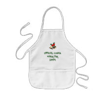 Official Cookie Maker For Santa Kids' Apron