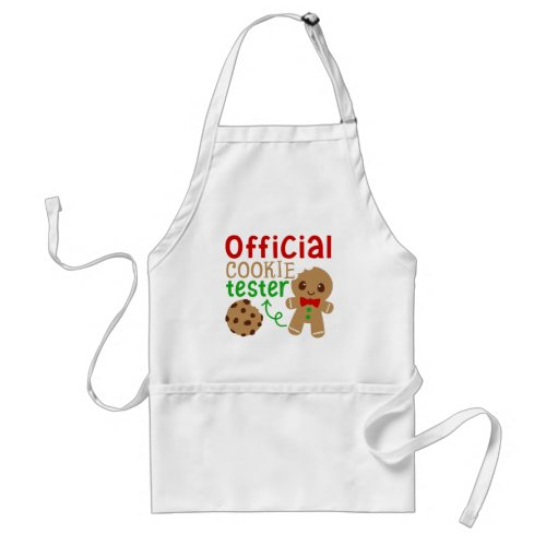 Official cookie tester word art Christmas Adult Apron