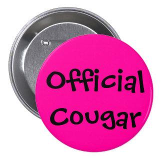 Official Cougar Pinback Button