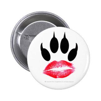 Official Cougar Lipstick-Pawprint I.D. Button