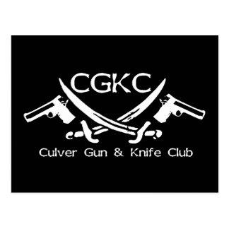 Official Culver Gun & Knife Club Postcard