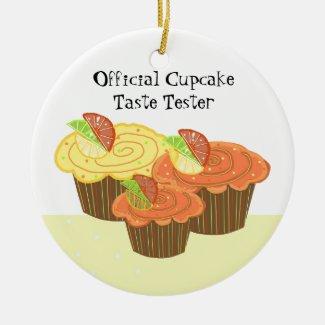 Official Cupcake Taste Tester Ceramic Ornament