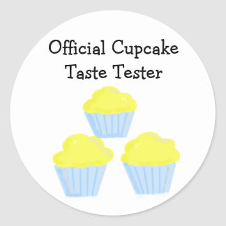 Official Cupcake Taste Tester Classic Round Sticker