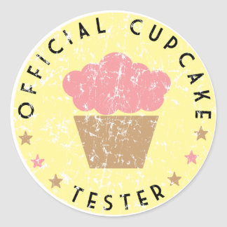 Official Cupcake Tester Classic Round Sticker