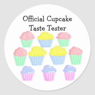 Official CupcakeTaste Tester Classic Round Sticker