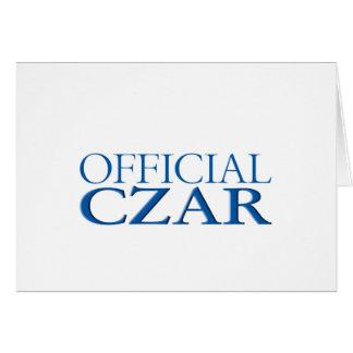 Official Czar Card