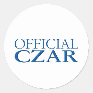 Official Czar Classic Round Sticker