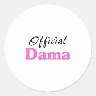 Official Dama Classic Round Sticker
