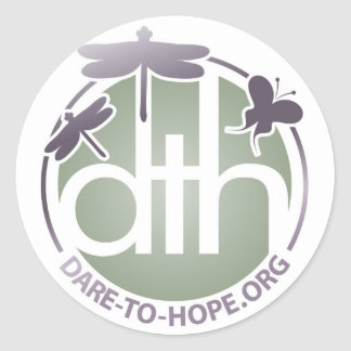 Official Dare to Hope Products Round Stickers