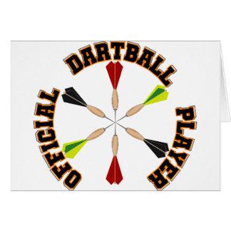 Official Dartball Player Card