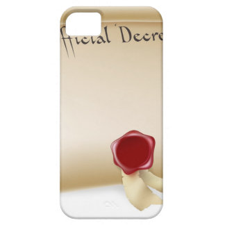 Official Decree Scroll With Red Wax Seal Case For The iPhone 5