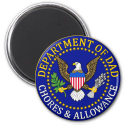 Round Magnet with Official Dad Seal design