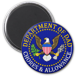 Official Department of Dad Seal 2 Inch Round Magnet
