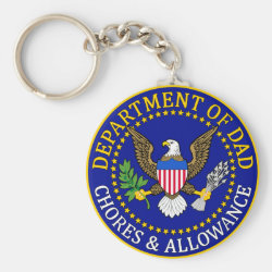 Basic Button Keychain with Official Dad Seal design