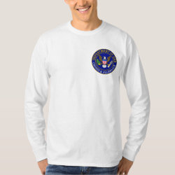Men's Basic Long Sleeve T-Shirt with Official Dad Seal design