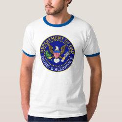 Men's Basic Ringer T-Shirt with Official Dad Seal design