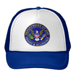 Trucker Hat with Official Dad Seal design