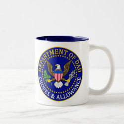 Two-Tone Mug with Official Dad Seal design