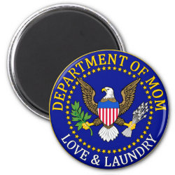 Round Magnet with Official Mom Seal design