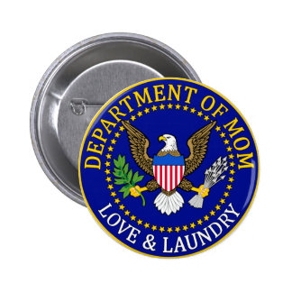 Official Department of Mom Seal Pinback Button
