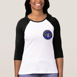Ladies Raglan Fitted T-Shirt with Official Mom Seal design