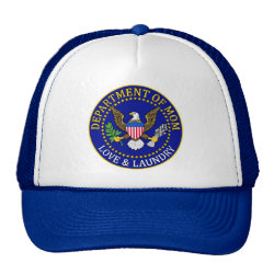 Trucker Hat with Official Mom Seal design